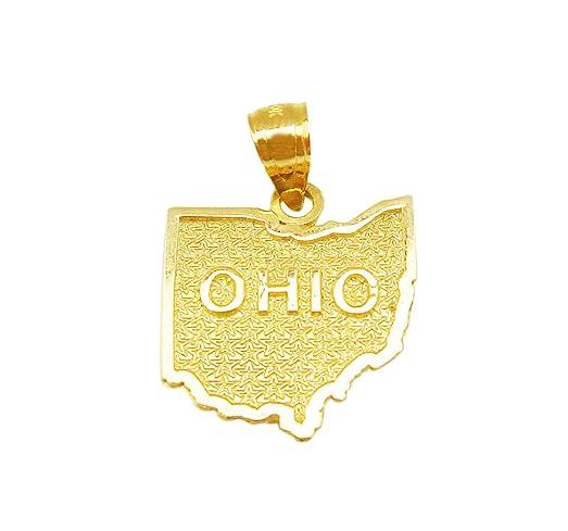 Amazon 10k yellow gold ohio state map charm ohio state pendant 10k yellow gold ohio state map charm ohio state pendant aloadofball Gallery
