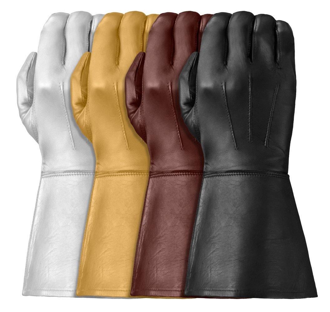 Tough Gloves Men's Ultra Enforcer Leather Gauntlets Size 7 Color Black