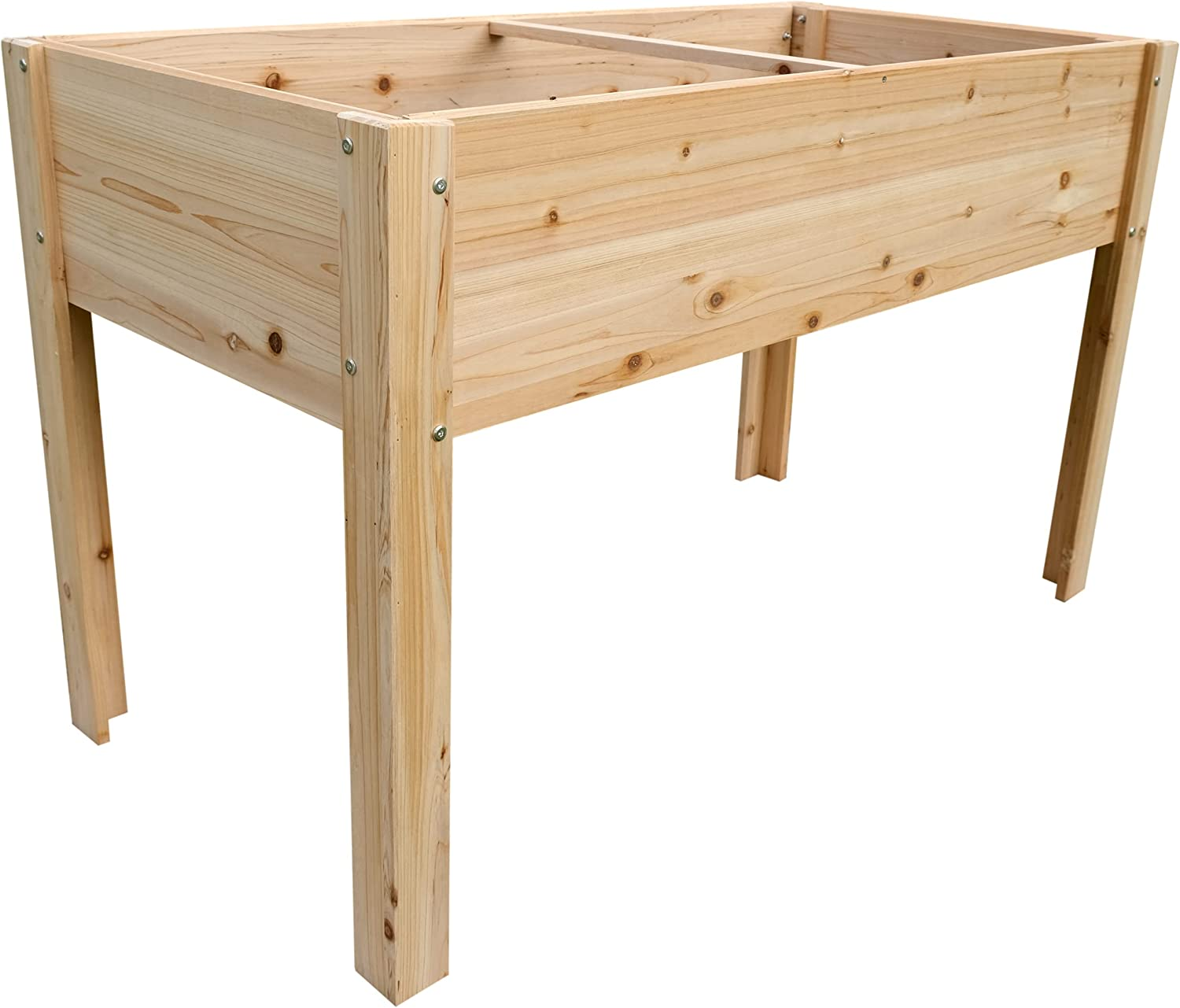 Boldly Growing Cedar Raised Planter Box with Legs - Elevated Outdoor Patio Cedar Garden Bed Kit to Grow Herbs and Vegetables - Unmatched Strength Lasts Years, Natural Rot-Resistant Wood (4x2) from