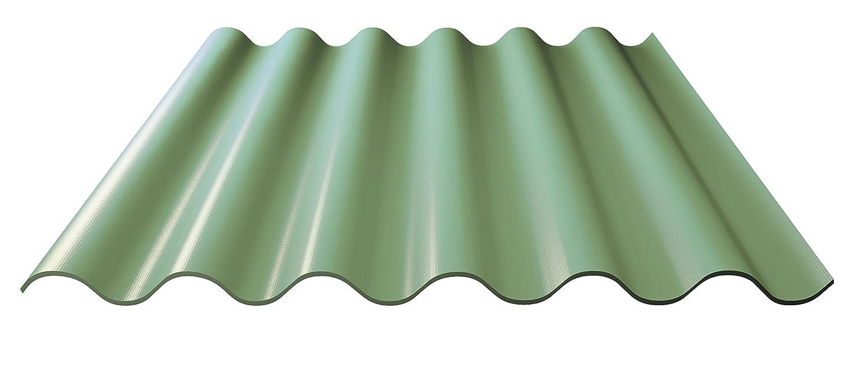 Bitumenwellplatten Set grün Compact 8 Stück 1000 x 750 mm
