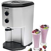 Sorbetière pour glace à l'italienne avec compresseur de yaourt glacé Gino Gelati GG-95W-BS, machine à milkshake, thermos