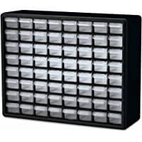 Akro-Mils 10764 64-Drawer Plastic Parts Storage Hardware and Craft Cabinet, 20-Inch by 16-Inch by 6-1/2-Inch, Black