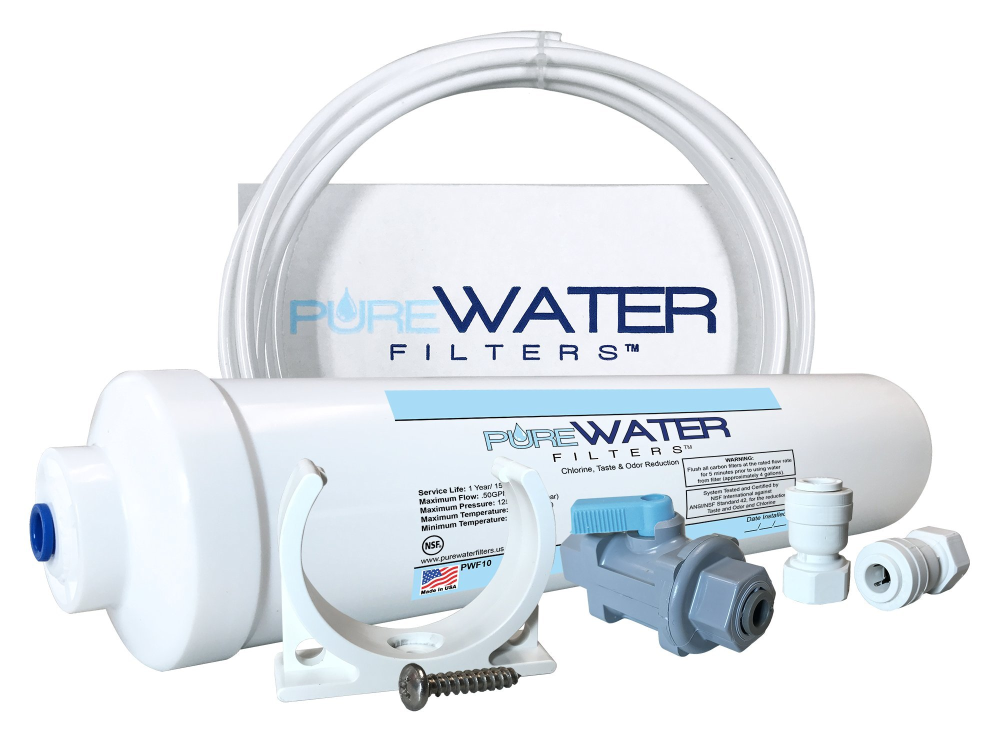 Inline Water Filter Kit for Ice Makers by PureWater Filters