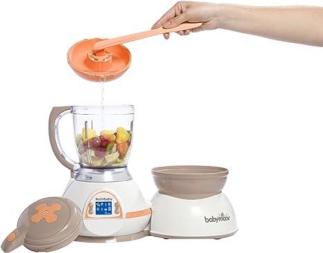 Babymoov Nutribaby Albaricoque - Robot de cocina 5 en 1 (calienta biberones, esteriliza, cuece al vapor, tritura, descongela): Amazon.es: Bebé
