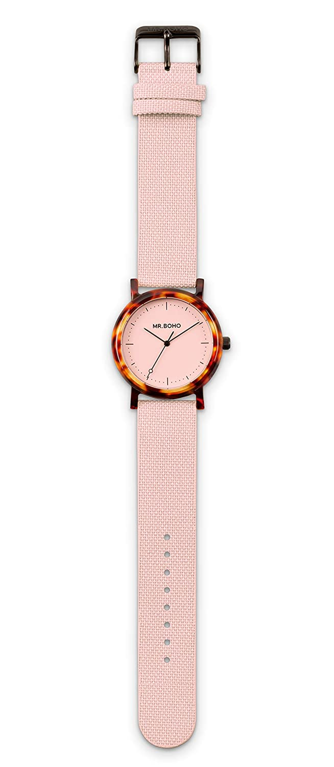 Reloj mr. boho 55-ac2 flamingo walnut acetate esf: Amazon.es: Deportes y aire libre