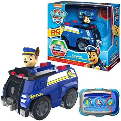 Paw Patrol 6054190 Chase Remote Control Police Cruiser with 2-Way Steering, for Kids Aged 3 and Up, Multicolour: Toys & Games