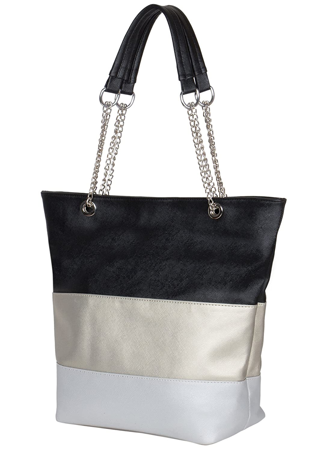 078a4f44ff27 ADISA Women's AD3016 Black Synthetic Handbag with Sling Bag Combo (One  Size): Amazon.in: Shoes & Handbags