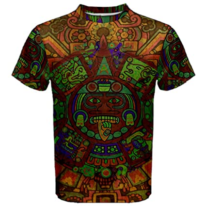 ff2c10099755 Aztec Ancient Code Trippy Hippie Psychedelic Full 3D Sublimation Men T-Shirt  Full 3D Custom