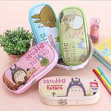 Romantic-Z Totoro pencilcase kalem kutu papeleria Estuche para lápices Lindo Estuche para lápices Gran Capacidad plumier estojo de Lapis 2016 Bolso para lápices @ Blanco: Amazon.es: Deportes y aire libre