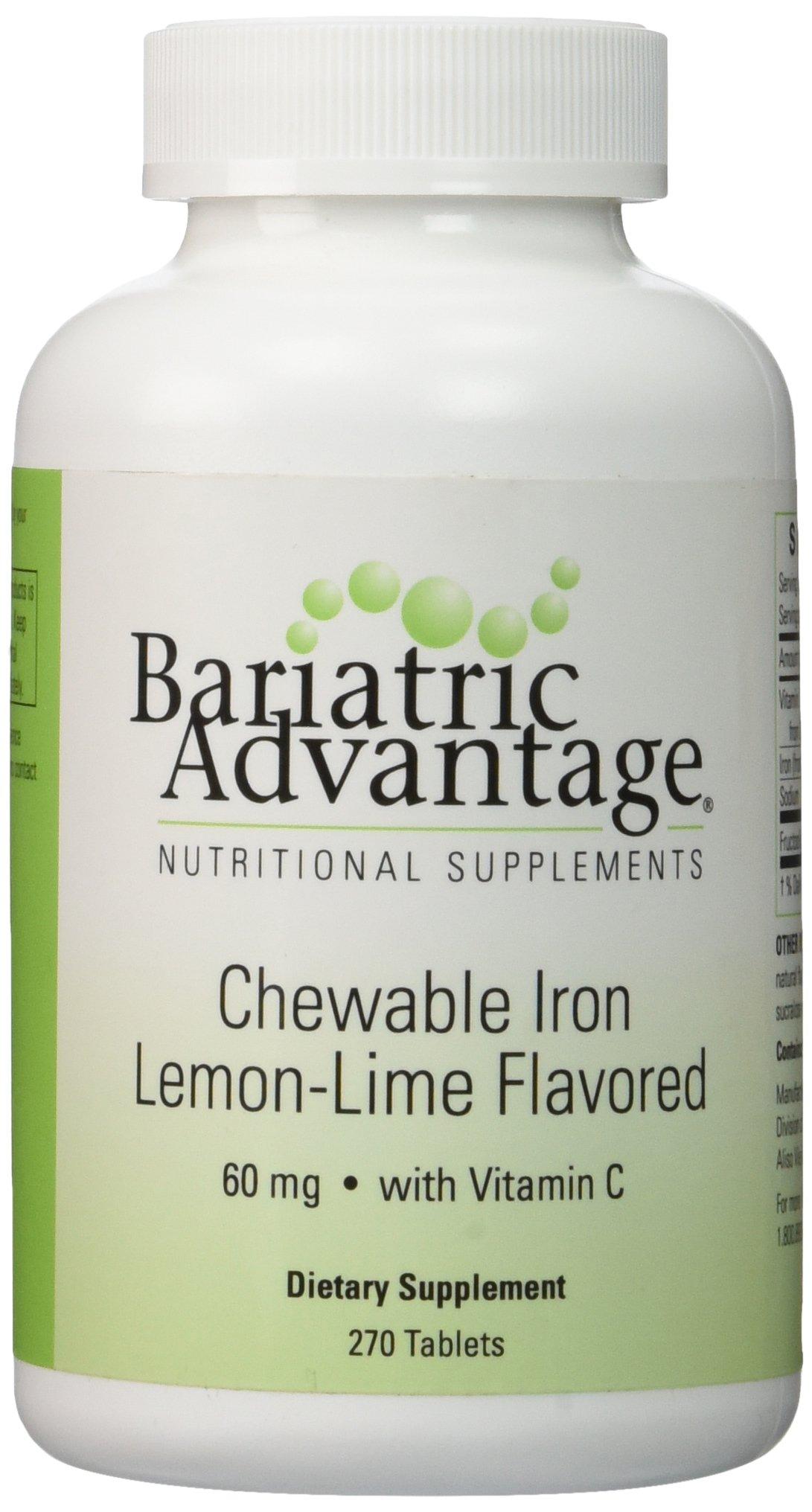 Bariatric Advantage - Chewable Iron 60mg - Lemon Lime, 270 Count