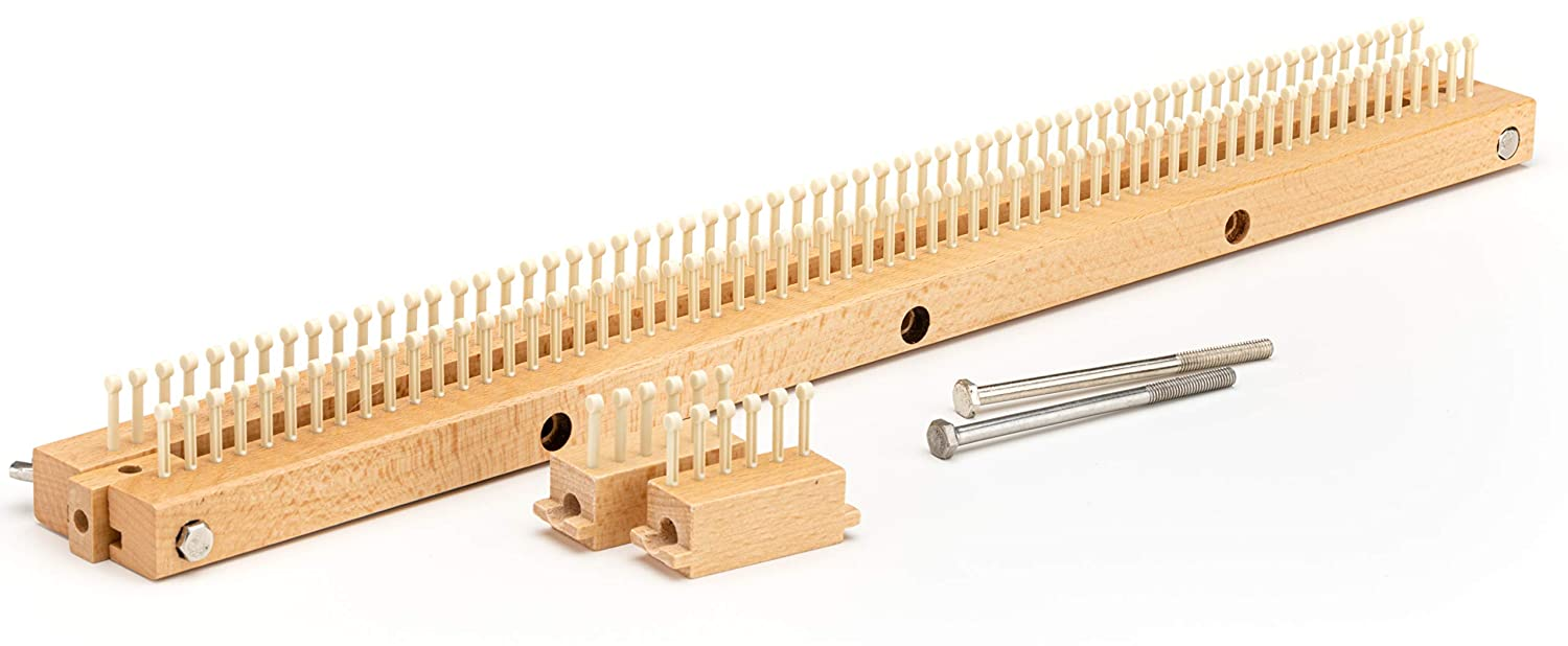 Authentic Knitting Board Limited Edition 5//16 fine Gauge Knitting Loom Solid Hardwood