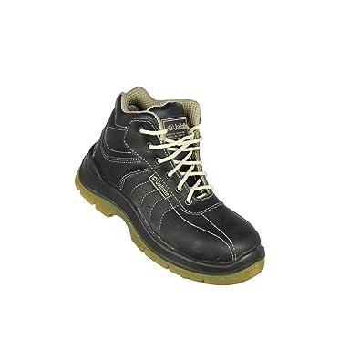 Jallatte - Calzado de protección de Piel para hombre, color Negro, talla 36
