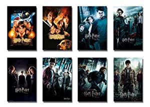"""Harry Potter 1-8 - Movie Poster/Print Set (8 Individual Full Size Movie Posters - Version 1) (Size: 24"""" x 36"""" each)"""