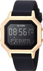 Nixon Siren SS Womens Water-Resistant Digital Watch (36mm. Ultra-Soft Silicone