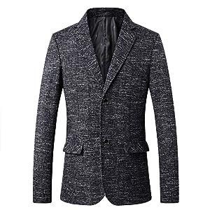 FOMANSH テーラードジャケット メンズ ブレザー スーツ ジャケット 2つボタン