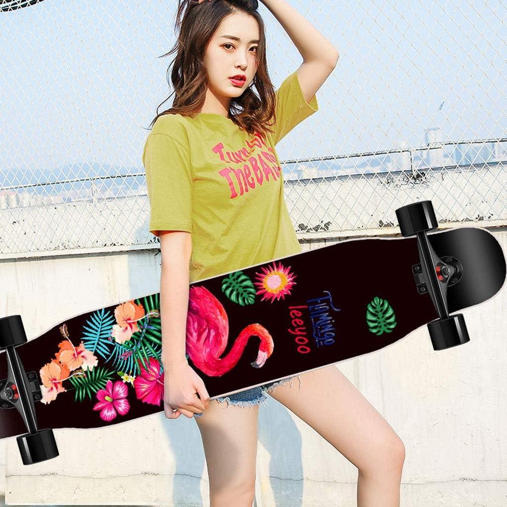 KTYXDE スクーターボーイガールブラシストリートダンスボード初心者メープルスケートボードティーン四輪スクーター (Color : D) D