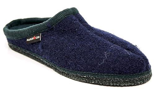 Haflinger Alaska Azul/Zapatillas de Lana de Color Verde Oscuro, Color, Talla 40: Amazon.es: Zapatos y complementos