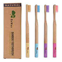 GoWoo 100% Natural Bamboo Toothbrush Soft - Organic Eco Friendly Toothbrushes with...