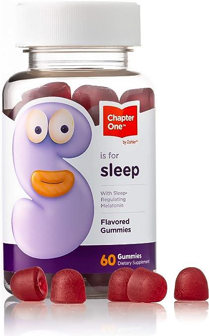 Chapter One Melatonin Gummies, Sleep Aid Gummy Supplement, Certified Kosher, 60 Flavored Gummies