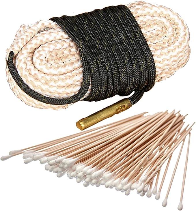 1x pezzi 7 mm CAL .270 .284 Bore Snake pulizia filo rame integrata Spazzola