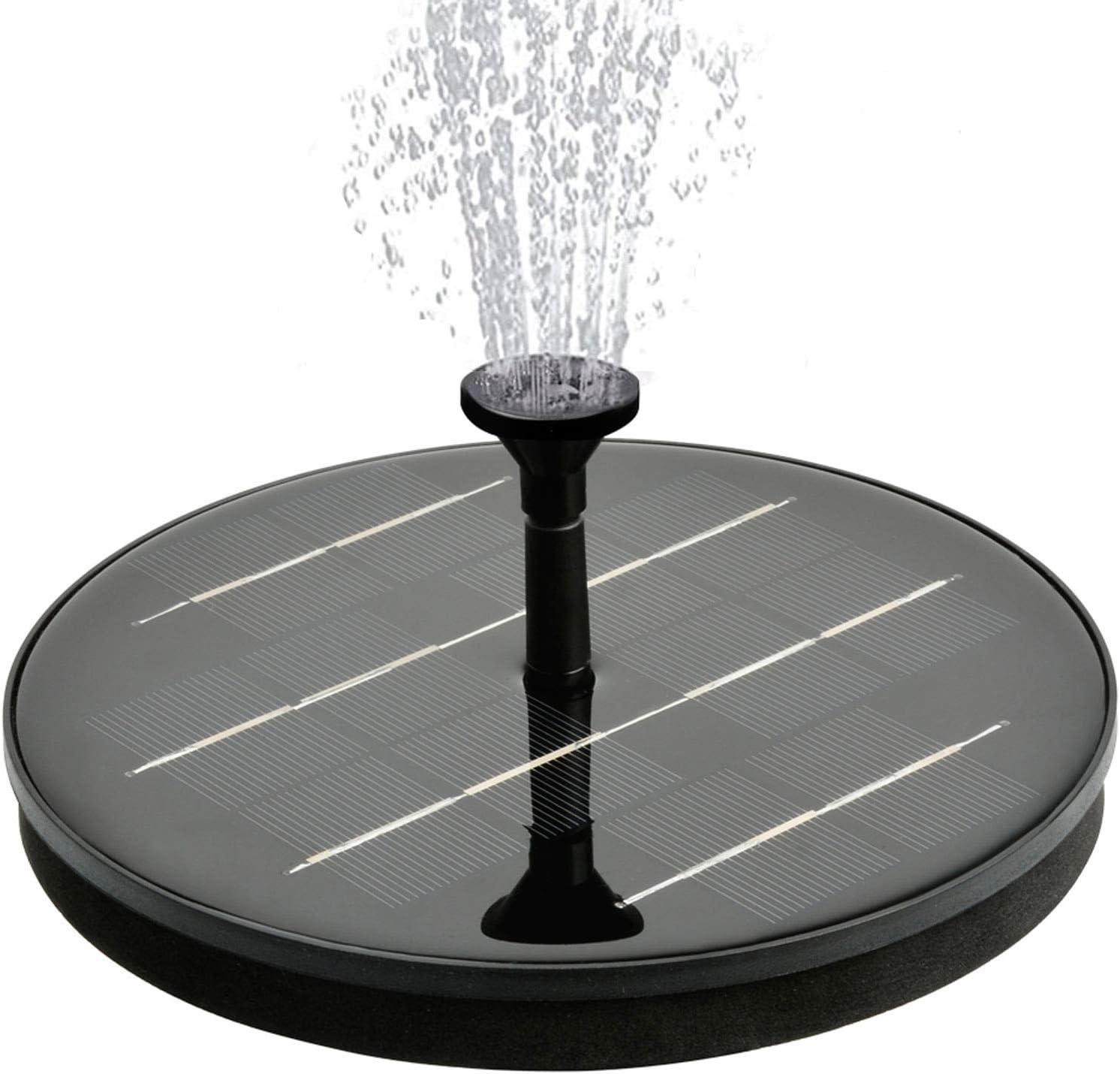 Muasdae Solar Fountain Pump,Free Standing Bird Bath Fountain Water Pump, 2.4W Outdoor Floating Fountain Pump Kit for Garden, Pond, Pool, Bird Bath,Aquarium