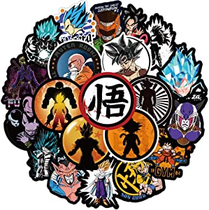 100 Pcs Cute Anime Waterproof Vinyl Dragon Ball(DBZ) Stickers Pack for Macbook Car Luggage Phone Computer Water Bottle Flasks Bike Laptop Trendy Cartoon Stickers Pack For Adults Girls Kids Teens Boys.
