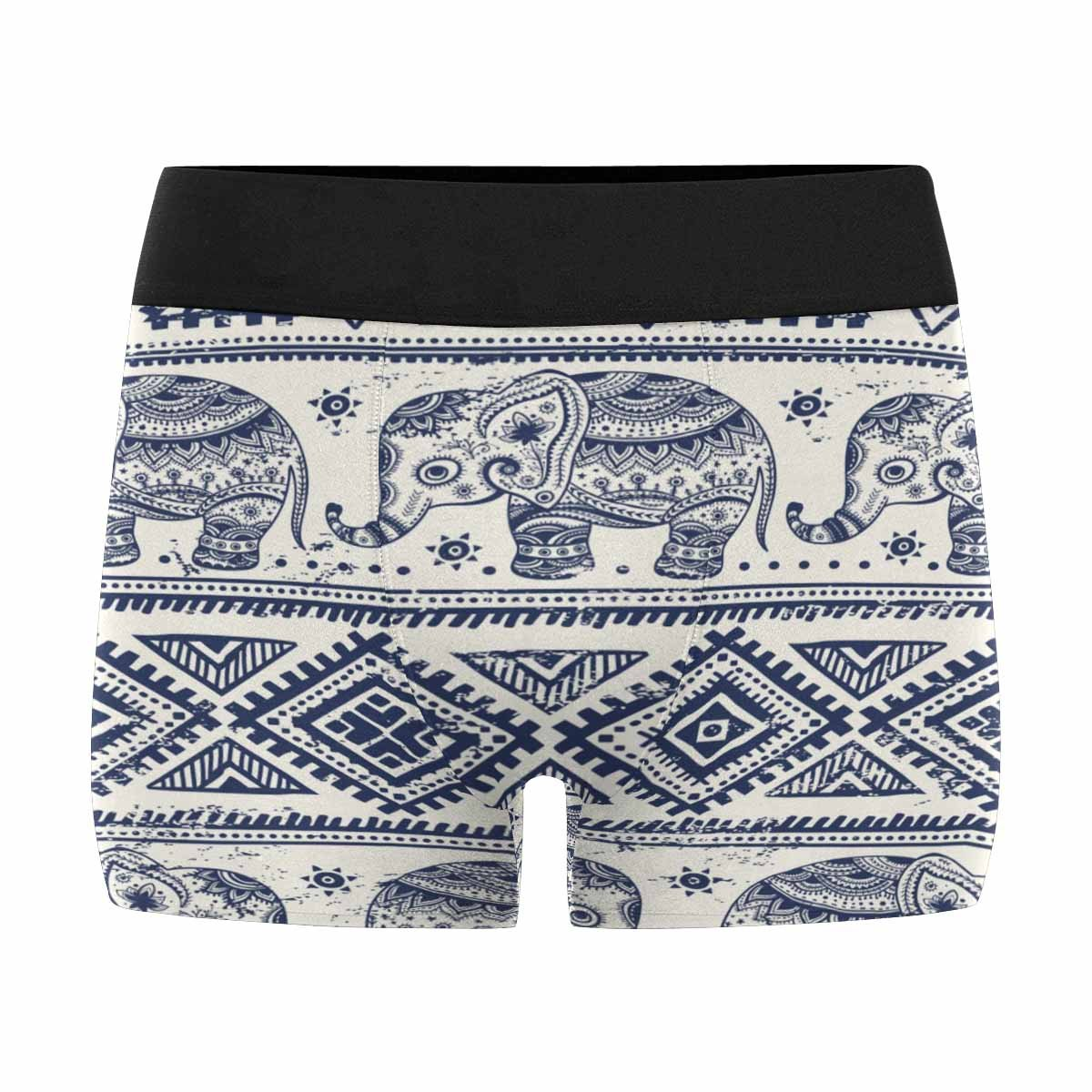 XS-3XL INTERESTPRINT Mens Boxer Briefs Underwear Ethnic Elephant