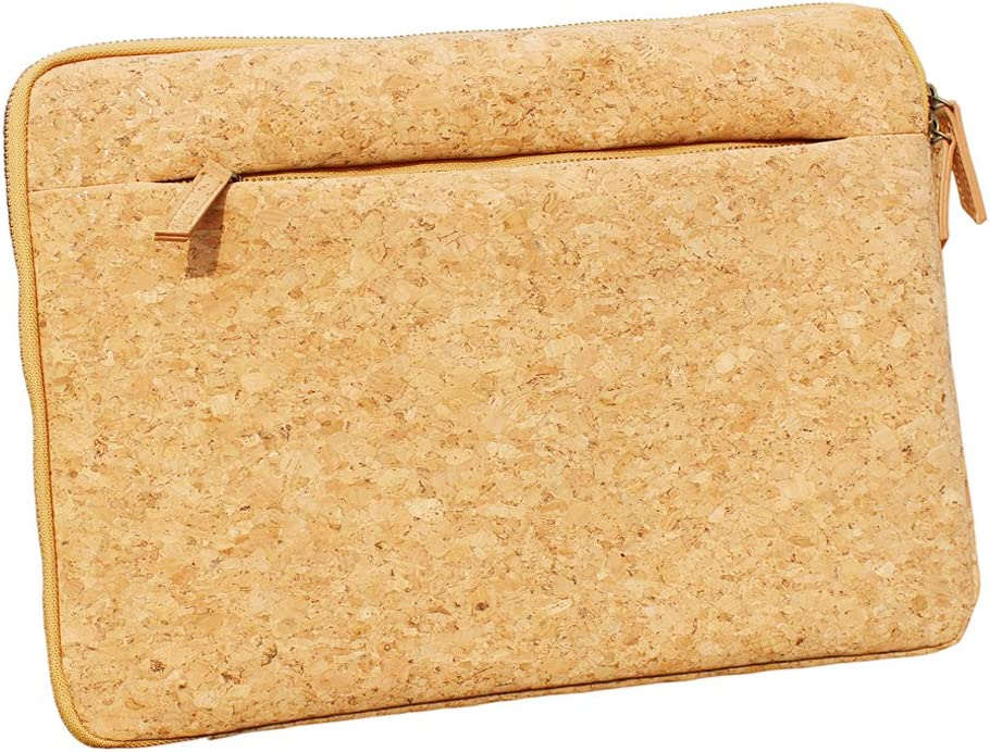 ECO-Friendly Cork Protective Sleeve Case Zipper Laptop Case for Apple MacBook Air Tablet Computers by Boshiho (15-15.4 inch)