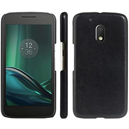 Amazon.com: portafolios de piel Moto G4 Play Case, fettion ...