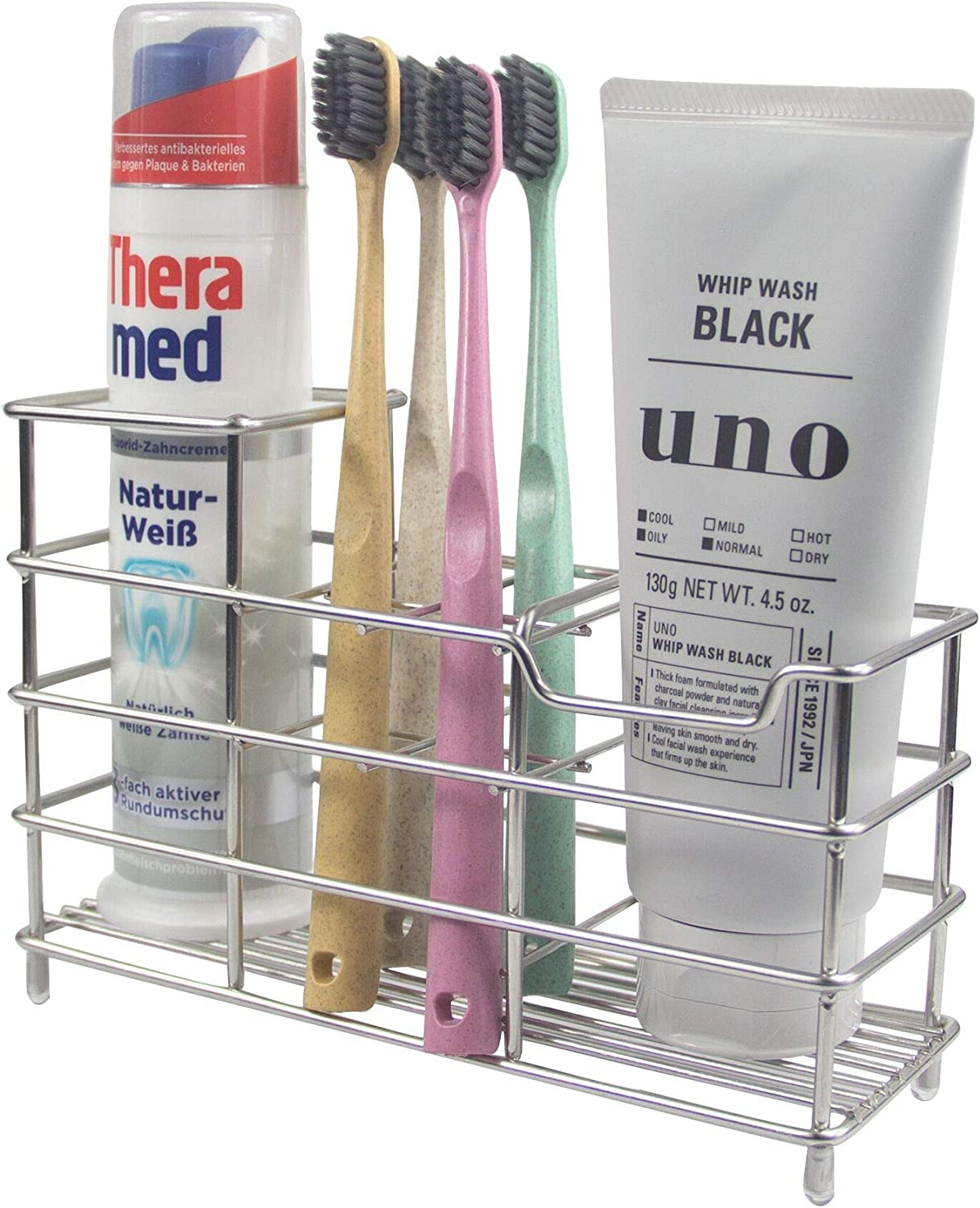 1Pcs Multipurpose Toothbrush Holder Stand Razor Rack Suction Cup Wall Mounted
