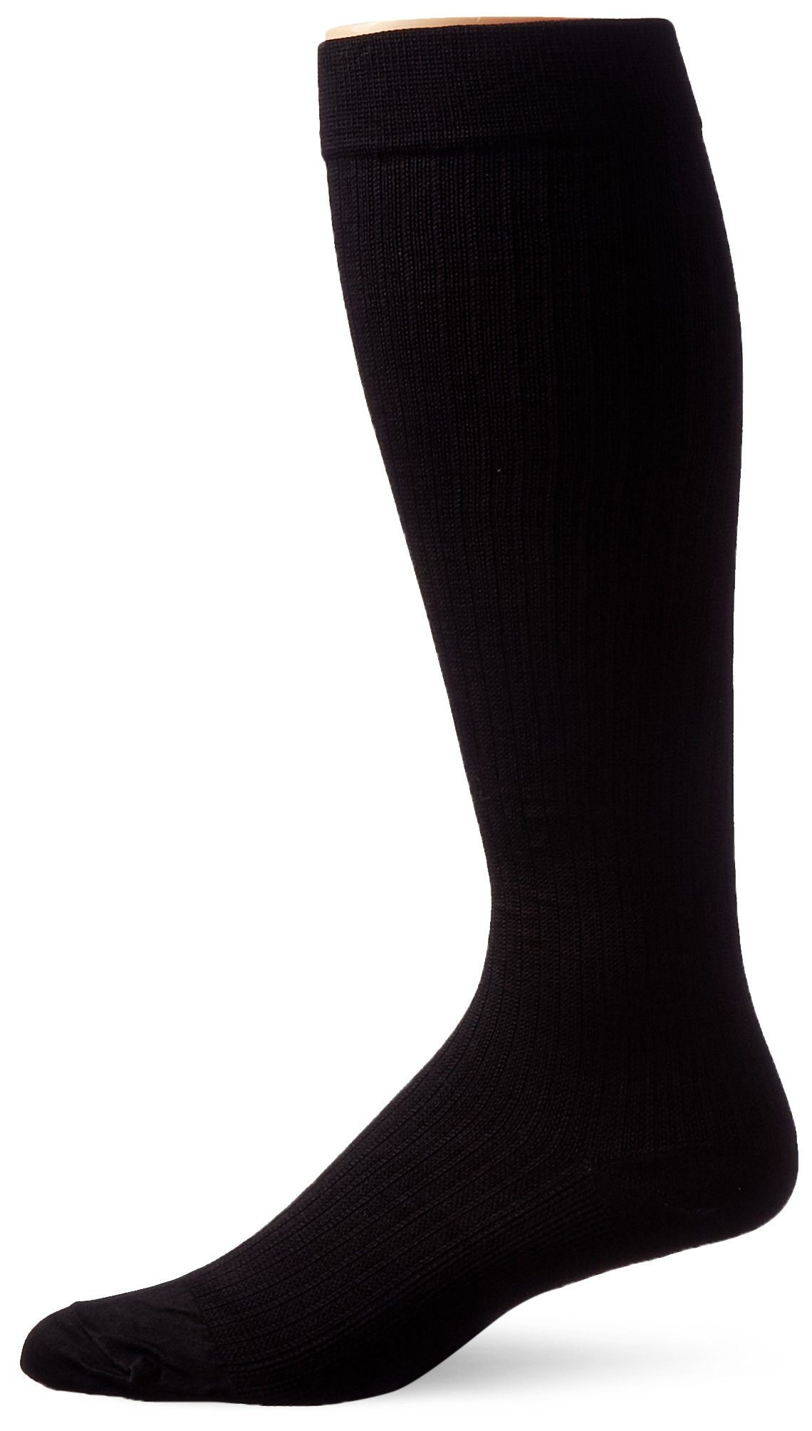 JOBST Men's Dress Knee High 8-15 Closed Toe Socks, Black, Large