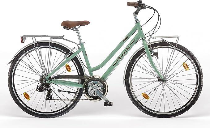 BIANCHI City Bike 28 tacón Rubí Deluxe 21 V Mujer celestevintage ...