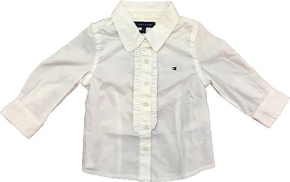 Tommy Hilfiger - Camisa de Manga Larga Mara, bebé niña, Color: Crudo, Talla: 6 Meses: Amazon.es: Ropa y accesorios