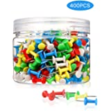 400Pcs Push Pins Colored Thumb Tacks, Multi-Color Map Thumb Tacks Plastic Marking Pins with Sharp Point for Bulletin…