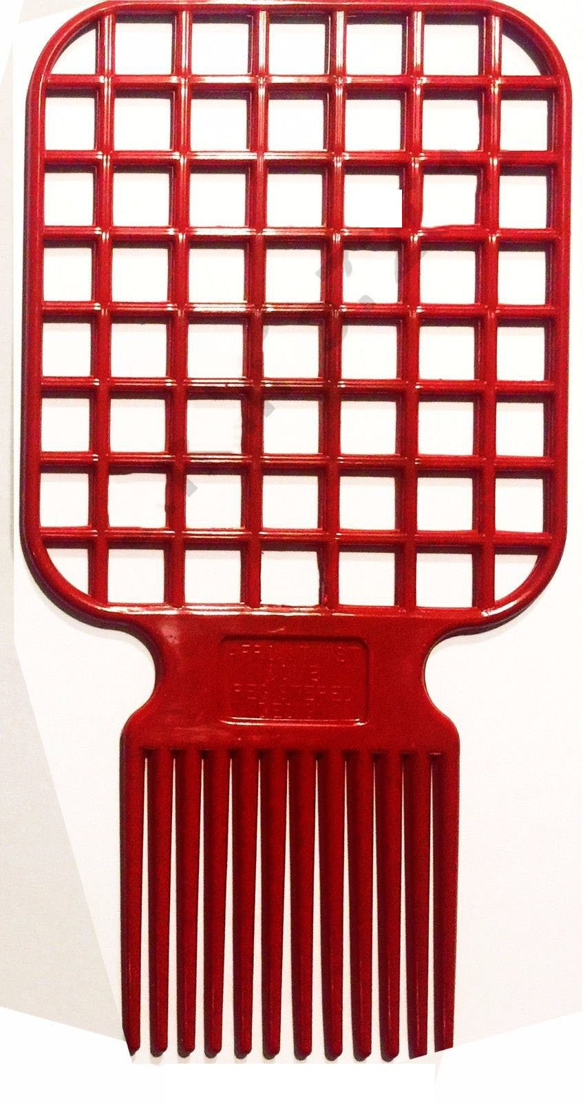 PAPE, Afro & Twist Comb (Red)-Barber Favored, Two in One as it is both an Afro and twisting comb