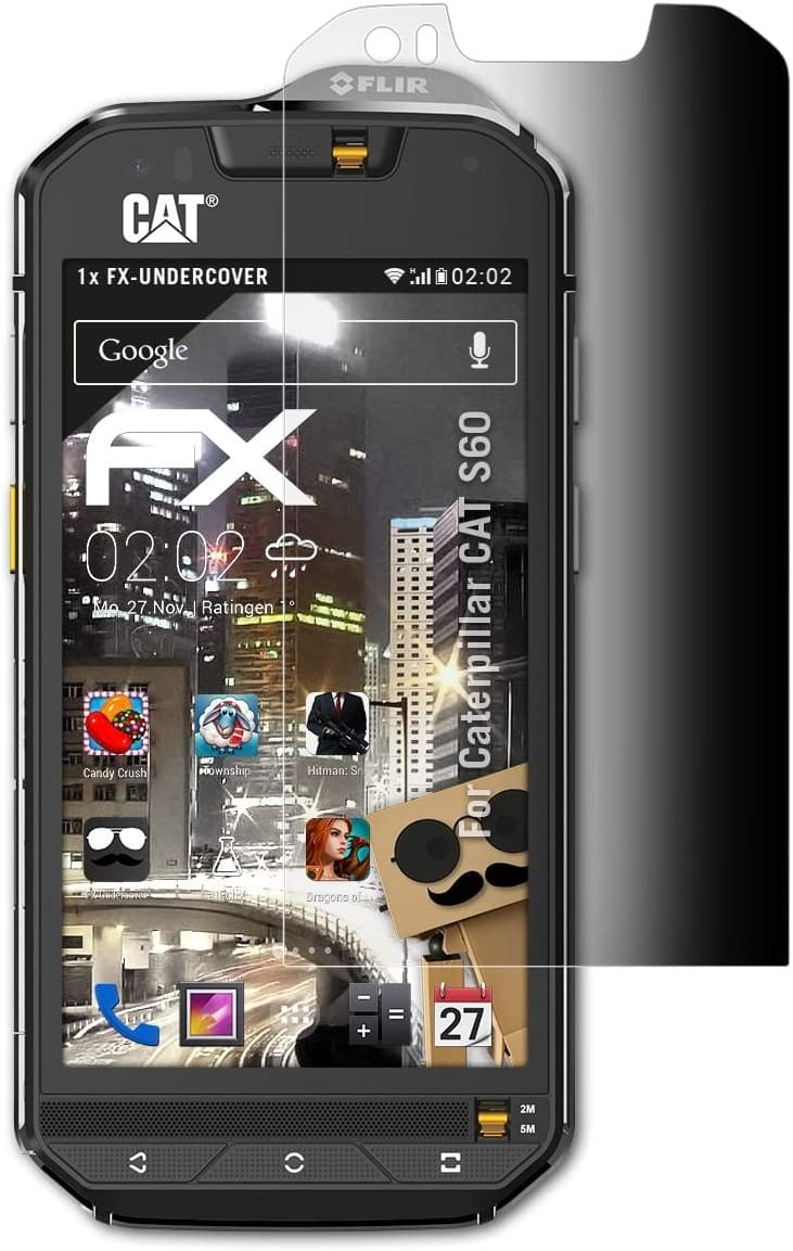 atFoliX Filtro de Privacidad Compatible con Caterpillar Cat S60 ...