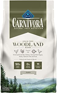 Blue Buffalo Carnivora Optimal Prey Nutrition High Protein, Grain Free Natural Puppy Dry Dog Food, Woodland Blend 4lb