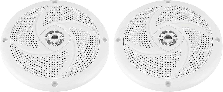 1 paire aqxreight Haut-parleurs marins de 6,5 pouces syst/ème audio ext/érieur double st/ér/éo /étanche et r/ésistant aux intemp/éries avec une puissance de 60 watts