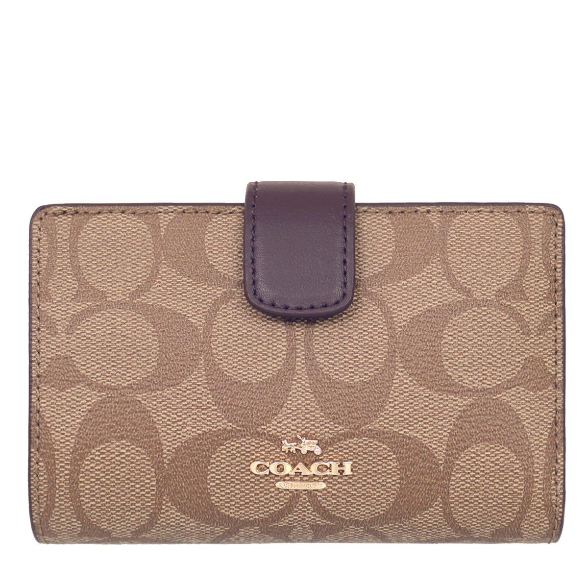 [コーチ] COACH 財布 (二つ折り財布) F54023 シグネチャー 財布 レディース [アウトレット品] [並行輸入品] B077FSQS3K  カーキ/オックスブラッド