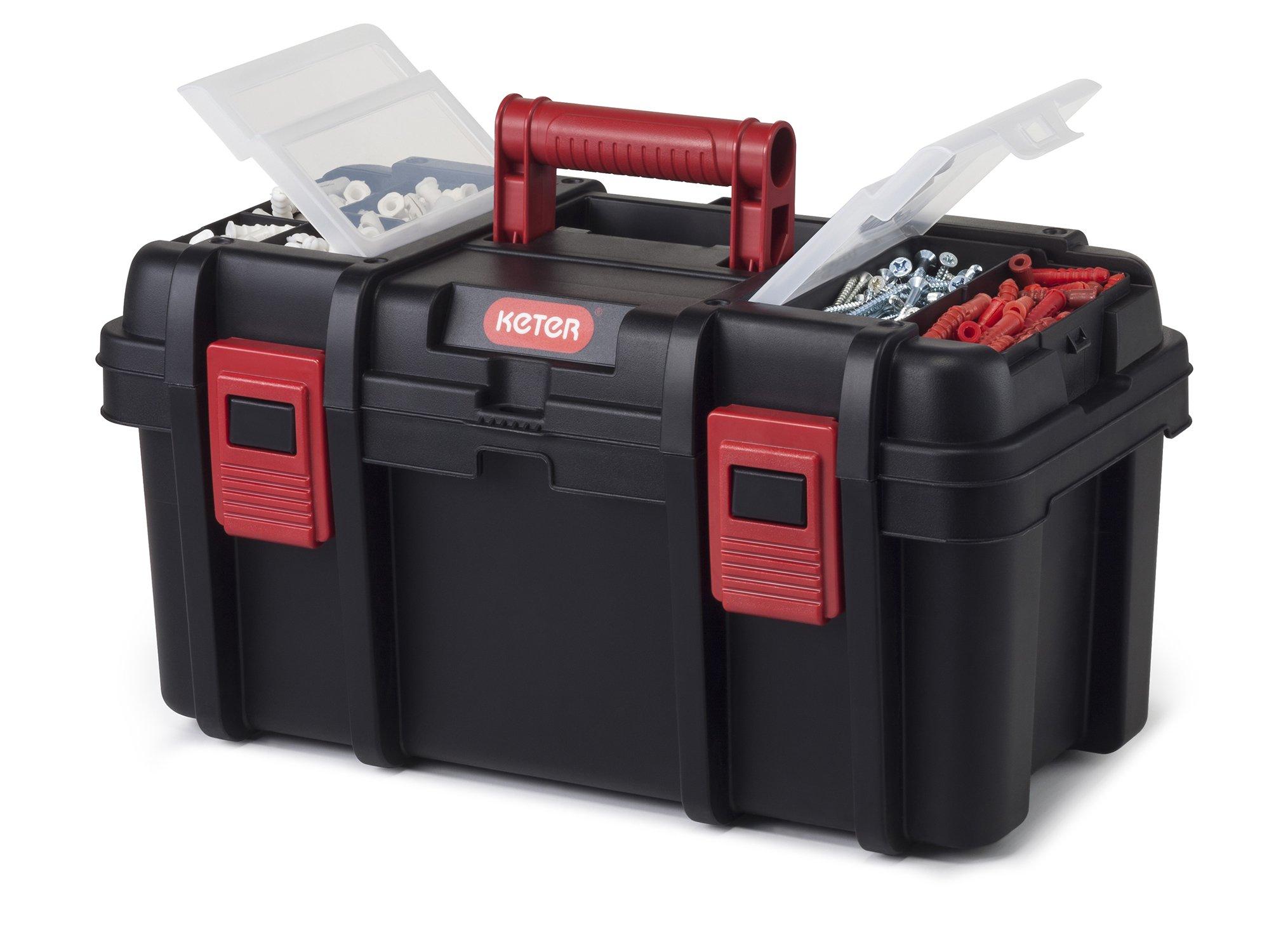 Keter Classic Tool Box 19'' Plastic Portable Organizer Tool Box Storage Solution