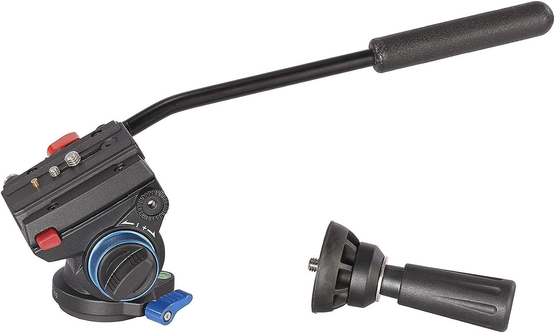 LEOFOTO VT-10 Video Head 60mm Half Ball Fluid Drag for 60 Bowl Tripod