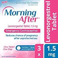 Morning After ™ Levonorgestrel Tablet, 1.5 mg Emergency Contraceptive Pill (3)