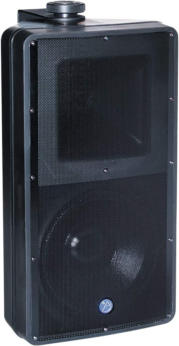 Atlas Sound SM82T-WH 8-Inch 2-Way Weather Resistant Speaker System with 70.7V//100V-60W Transformer and 8 ohm Bypass