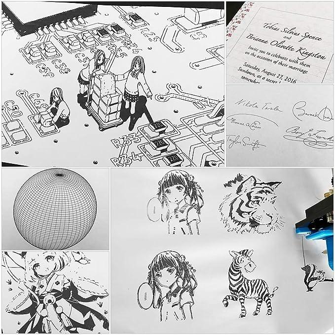HYLH Escritorio DIY Montado XY Plotter Pluma Dibujo Robot Maacute;quina Dibujo Escritura A Mano Kit Robot 100-240V: Amazon.es: Hogar