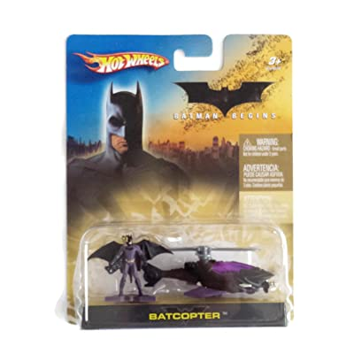 Hot Wheels Batman Begins Batcopter Purple and Black: Toys & Games