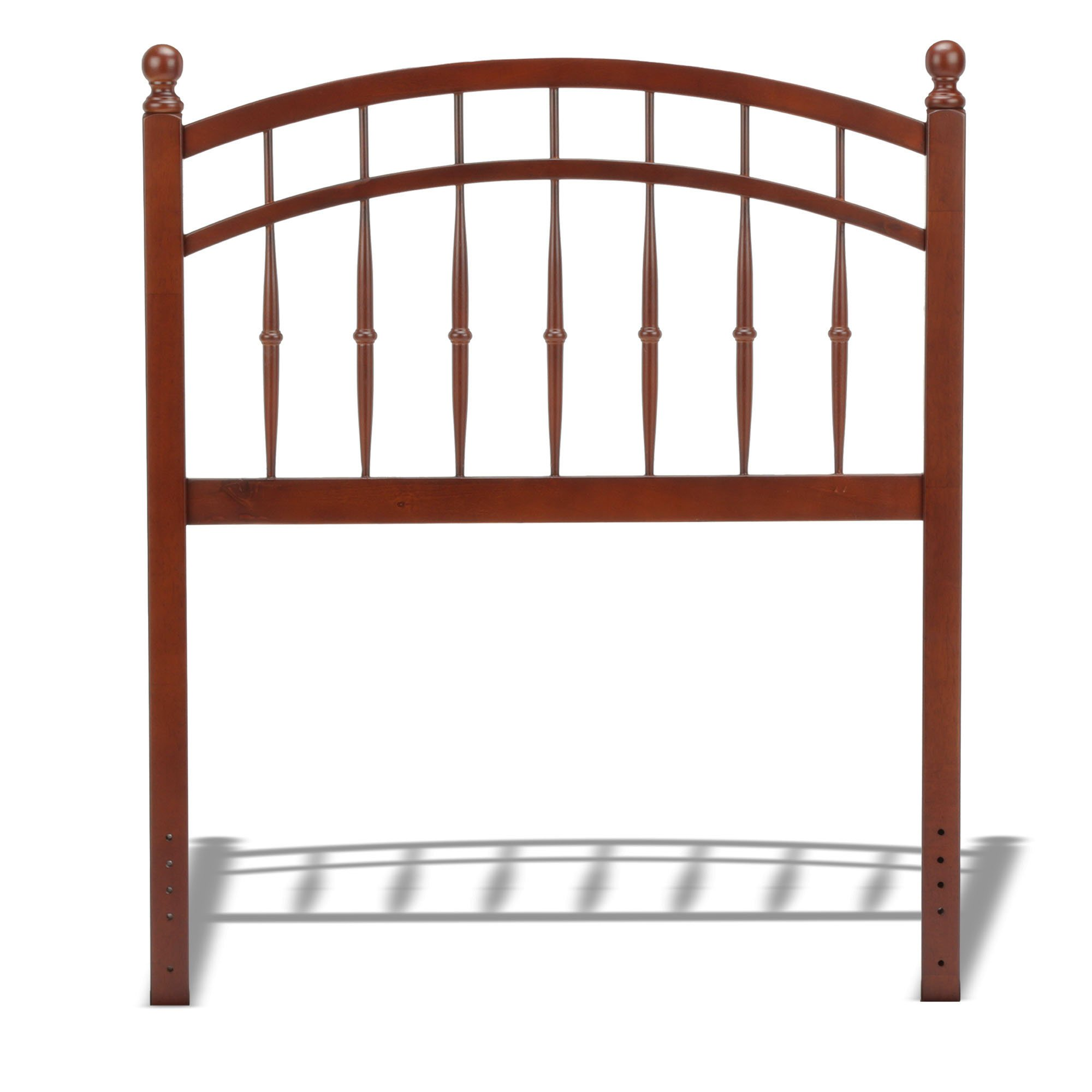 Fashion Bed Group Bailey Wooden Headboard Panel with Intricate Spindles and Round Post Finials, Merlot Finish, Twin