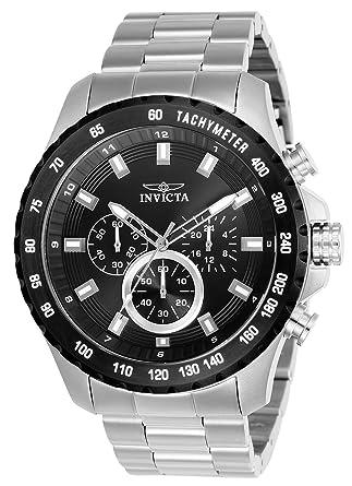 6c8409ff6 Amazon.com: Invicta Men's Speedway Quartz Watch with Stainless-Steel Strap,  Silver, 10 (Model: 24210: Invicta: Watches