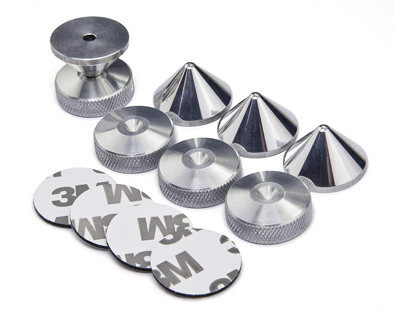 Spikes de desacople para Altavoces 3M Adhesiva Almohadilla de Espuma Aluminio Puntas