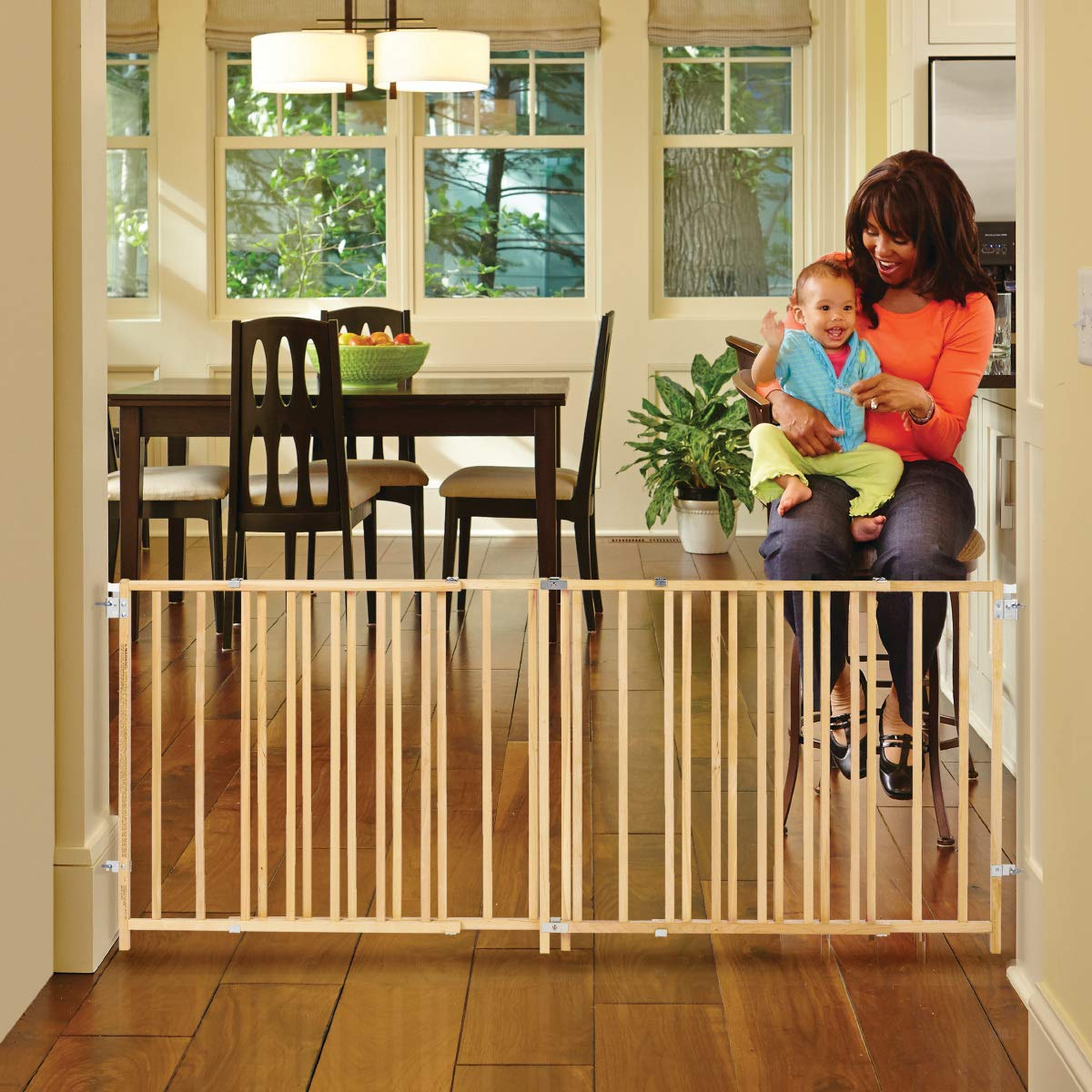 X Wide Swing Wood Gate, Fits Spaces between 60 and 103 Wide North States Industries 4649