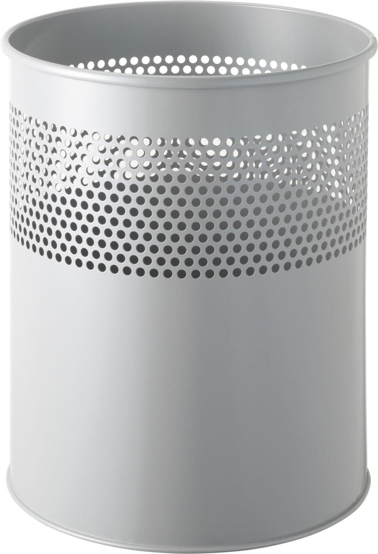 gris helit Corbeille /à papier 15 litres perc/ée de trous